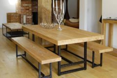 modern rustic dining room table Traditional Compact